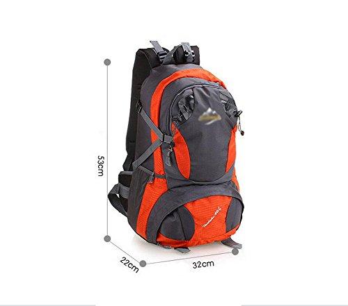 HWLXBB Outdoor Bergsteigen Paket Männer und Frauen 40L Wasserdichte Licht Mehrzweck Bergsteigen Tasche Wanderung Berg Bergsteigen Rucksack ( Farbe : 2* )