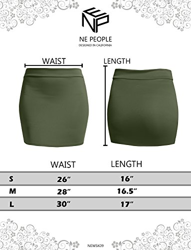 NE PEOPLE Women's Stretch Knit Bodycon Mini Pencil Skirt Made In USA by NE PEOPLE (Image #4)