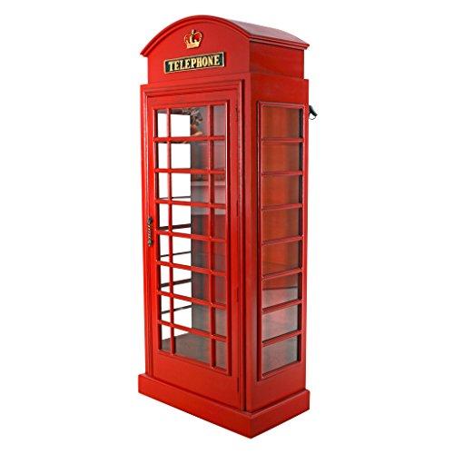 Charmant Amazon.com: Design Toscano British Telephone Booth Display Cabinet: Kitchen  U0026 Dining