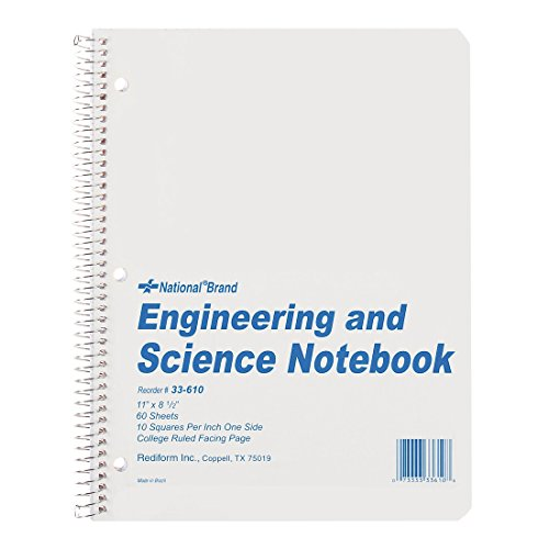 NATIONAL Engineering & Science Notebook, White, 11