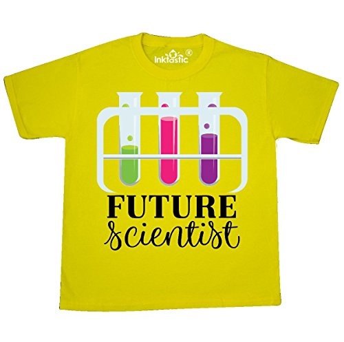 inktastic - Future Scientist Girls Youth T-Shirt Youth Small (6-8) Yellow 311a0