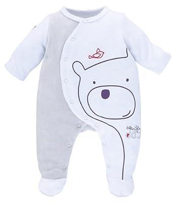Sucre D Orge - Sleepwear - Mixte - pyjama bebe velours  gris - Taille 38222c939b9