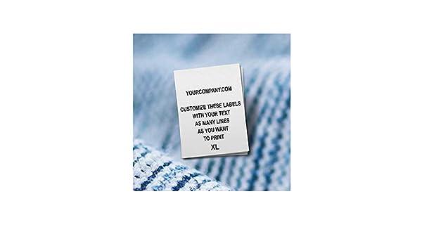 250 pcs Custom Printed Professional Satin Clothing Care Tags Labels