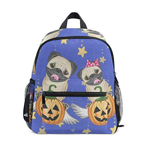 Halloween Dogs With Pumpkins School Backpack for Girls Kids Elementary School Bag Mini Backpacks -