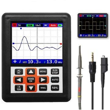 (DSO338 Handheld Oscilloscope 30MHz Bandwidth 200M Sampling Rate 2.4 Inch Screen 320240 Resolution Technology Built-in 64M Storage Built-in 3000mah Battery - Digital Multimeters & Oscilloscopes Oscil)