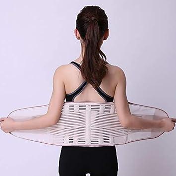 LLZGPZBD en /Ét/é Respirant R/églable Double Taille Tirant La Taille Amincissant La Ceinture Correcteur De Posture Brace Ceintures De Soutien en Bas du Dos