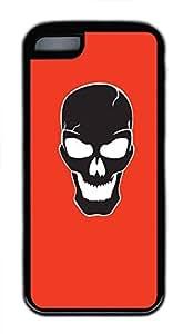 Hot iPhone 5C Customized Unique Print Design Skulls Set New Fashion Tpu Black iPhone 5C Cases by supermalls