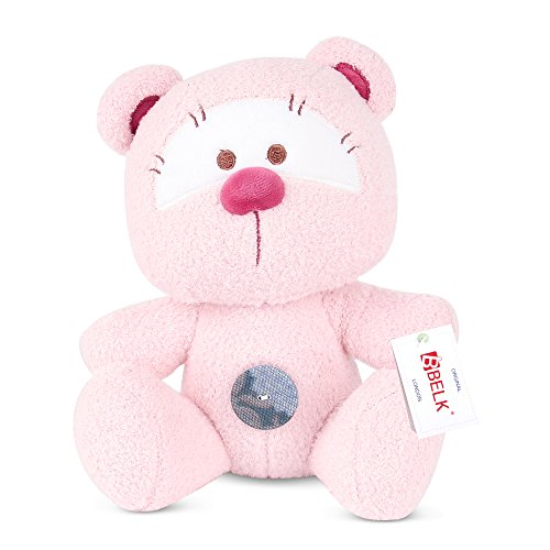 [Cuddle Buddy Bear,BELK Soft Plush Pearl Fabric Bear with Unique Button Lovely Toy Doll Stuffed Animal Gift for Kids Boys Girls 8] (Korean Costume For Boys Kids)