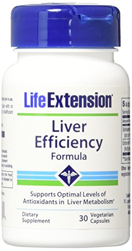Life Extension Liver Efficiency Formula Vegetarian Capsules, 30 Count