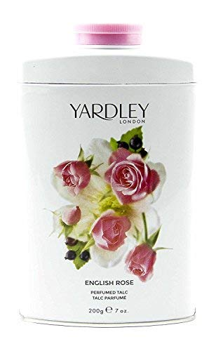 Yardley of London English Rose Perfumed Talc, 7 Oz, Made in England - NEW FORMULA