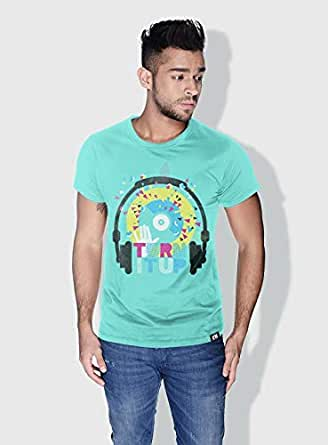 Creo Turn It Up Trendy T-Shirts For Men - S, Green