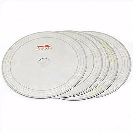 BaBaSM Excelente Disco de Corte de Diamante 10 Unids 6 Pulgadas 0.43mm Súper Delgado Diamante Lapidario Velas 150mmx20mm Disco de Corte de Gemas: Amazon.es: ...