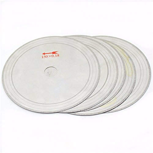 Super Fine Diamond Necklace (10Pcs 6 Inch 0.43mm Super-Thin Diamond Lapidary Saw Blades 150mmx20mm Gems Cutting Disc)