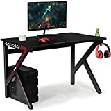 Tangkula Gaming Desk, E-Sports Computer Desk Table with Large Ergonomic Surface and Heavy Duty Construction for Home or Office, Gaming PC Desk Table