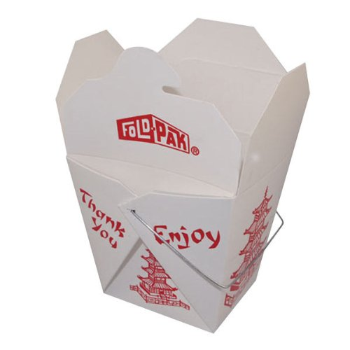 Pack of 15 Chinese Take Out Boxes PAGODA 8 oz / Half Pint Party Favor and Food Pail