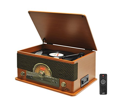 Pyle PTCD56UBWDrecord Turntable Bluetooth Recording