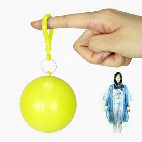 OYTRO Unisex Adult Portable Travel Outdoor Disposable Raincoat with Keyring Ball Raincoats from OYTRO