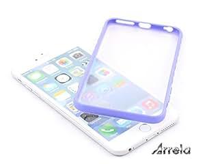 """ARRELA® iPhone 6 Case, 5.5"""", Light Violet Border & Transparent Back Skin(Only case)"""