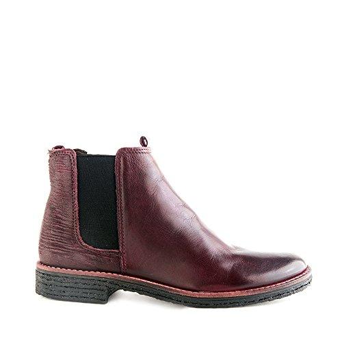 Felmini - Zapatos para Mujer - Enamorarse com Crepona 9840 - Botas Classic - Cuero Genuino - Bordeaux - 0 EU Size Bordeaux
