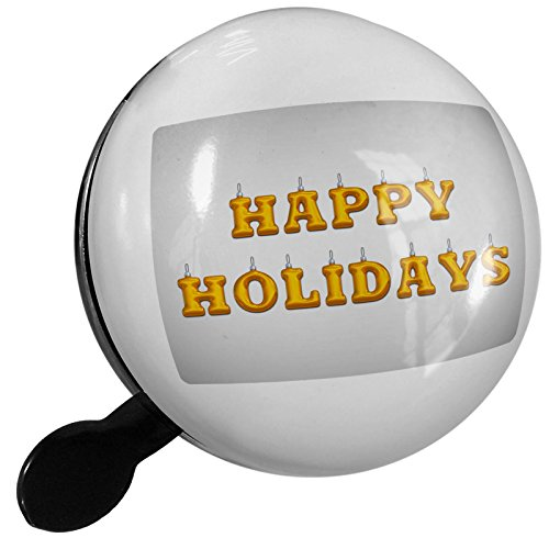 Small Bike Bell Happy Holidays Christmas Ornament - NEONBLOND (Bicycle Ornament Holiday)