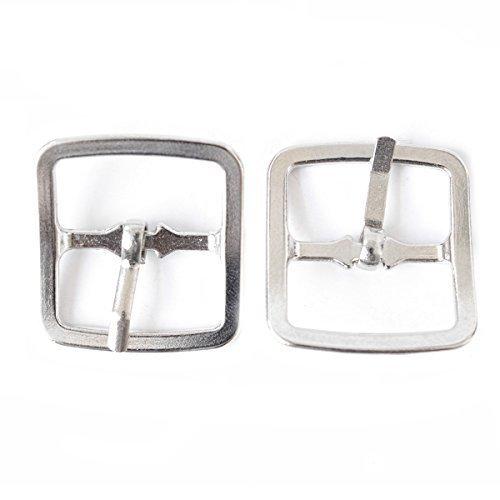 2 pezzi di 25mm Argento Roller cintura quadrato FIBBIE METALLO PER L'ARTE cucito Craft Abbigliamento Denim Scarpe da Wedding Decor