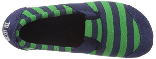 Living Kitzbühel T-Modell Fußball mit Streifen - pantuflas de lona niño azul - Blau (562 marine/verde)