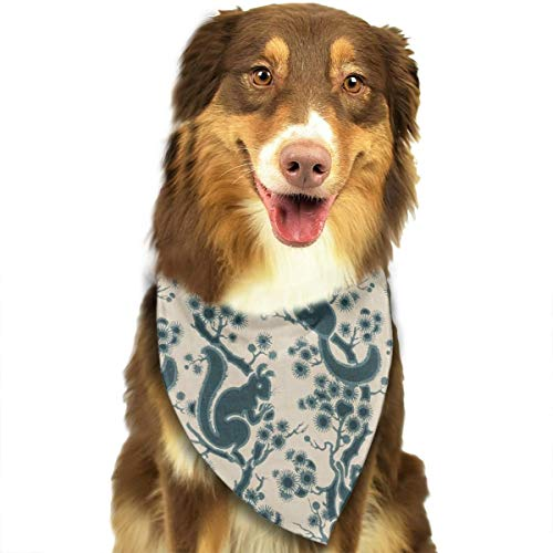 Pet Scarf Dog Bandana Bibs Triangle Head Scarfs Frolic Squirrel Accessories for Cats Baby Puppy]()
