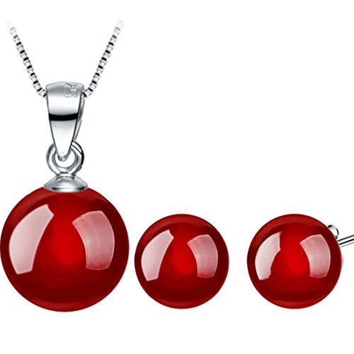ngs Necklace Set,Fashion Natural Onyx 3 Piece Set of Women's Jewelry Set,Perfect Lady ()
