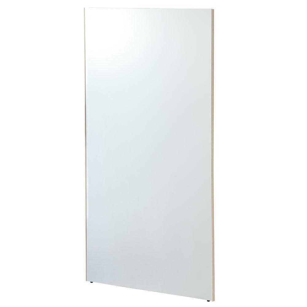 【80cm幅】 鏡 スタンドミラー 全身 ウォールミラー 壁掛け ミラー 姿見 割れない 日本製 〔細枠〕メープル B01CQE3TMIメープル