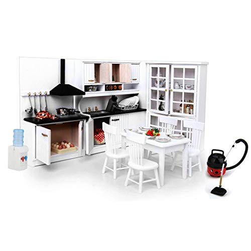 Broadway Dining Room Set - NATFUR Vintage 1:12 Dollhouse Miniature Furniture Set Kitchen Dining Rooms Items