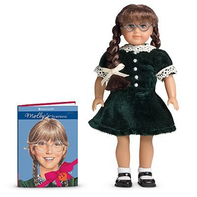 American Girl Special Edition 25th Anniversary Collectible Molly Mini Doll  and Book Set