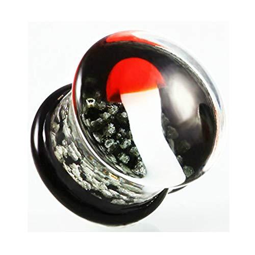Mushroom Glass Ear Plug Gauge Earring Piercing Expander Glow in The Dark Ear Flesh Tunnel Piercing Jewelry (Mushroom, 8mm) ()
