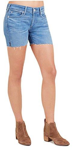 True Religion Women's Becca Side Slit Denim Cut Off Jean Shorts In Spring Break (33)
