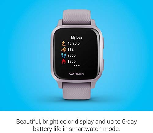 Garmin Venu Sq, GPS Smartwatch with Bright Touchscreen Display, Up to six Days of Battery Life, Orchid Purple