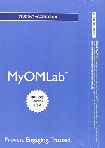 NEW MyOMLab with Pearson eText -- Access Card --  for Operations Management