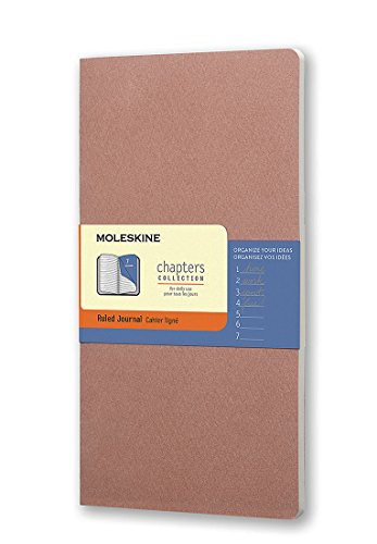 Moleskine Chapters Journal, Slim Large, Ruled, Old Rose, Soft Cover (4.5 x 8.25) ()
