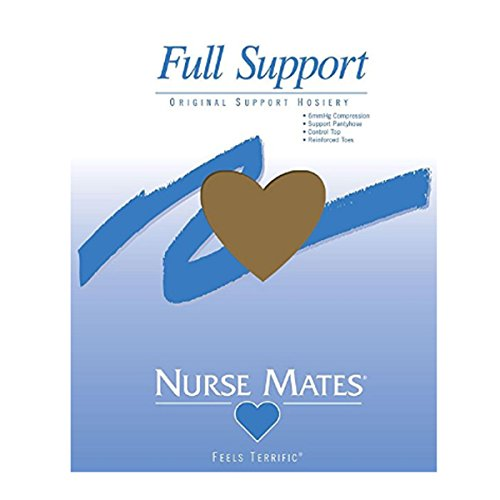 Nurse Mates Women's 6 Mmhg Feels Terrific Full Support Pantyhose Hosiery Honey Beige Size EE