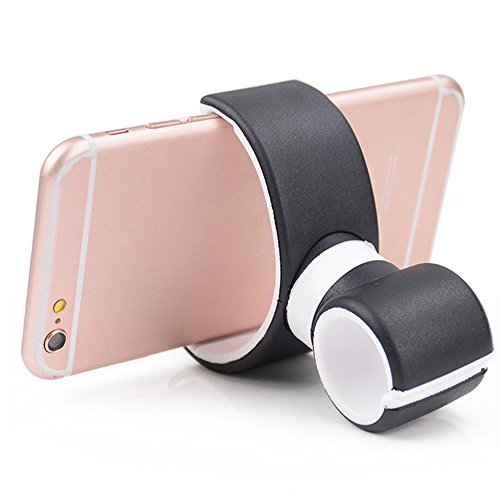 Gym Floor Cover Mobile Storage - Axiba 360 Degrees Universal Air Vent Mount Bicycle Car Cell Phone Holder Stands for iPhone 6 Plus/7/8/X 3.5-6.0inch Phone (Black)