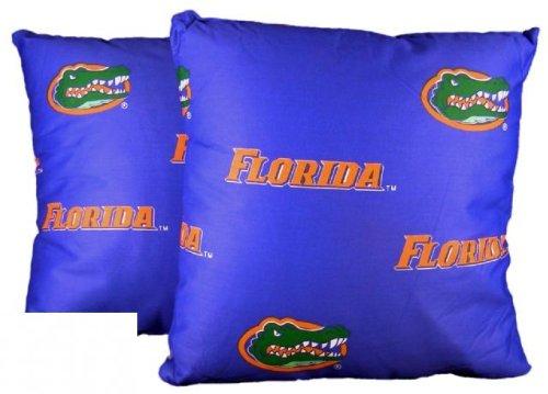 College Covers Florida Gators Decorative Pillow, 16'' x 16'', Includes 2 Decorative Pillows