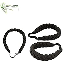 Synthetic Hair Braided Headband Stretch Hairpiece Women Beauty accessory looks like your natural hair with adgusted ribbon on the back match you hair or highlight hair braid (2)
