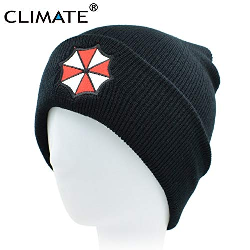 3d2402acedf Elvy Climate Men Women Winter Warm Beanie Hat Resident Evil Umbrella  Corporation Soft Cool Knitted Beanie Hat Cap for Adult Men Women   Amazon.in  Clothing   ...