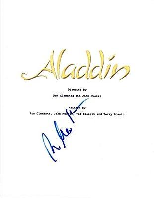 alan menken signed autographed aladdin movie script composer coa vd