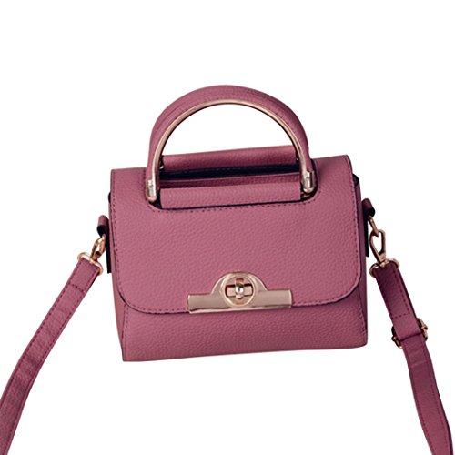 SALLYDREAM Bolso de Hombro con Cadena de 4 Bolsillos para Mujer, Moderno y Elegante (verde) Rosa