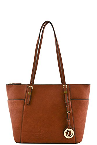 womens-designer-faux-leather-tote-bag-with-side-open-pockets-va2001-brown