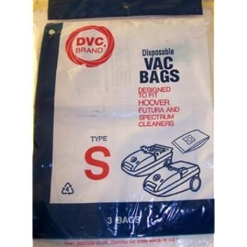 Hoover Futura,Spectrum Canister Vacuum Type S Bags 3 Pk Generic Part # 109SW