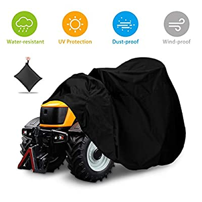 """NASUM Outdoors Lawn Mower Cover -Tractor Cover Fits Decks up to 54"""", Riding Lawn Mower Cover, Protection Universal Fit for Your Ride-On Garden Tractor, with Drawstring & Storage Bag?72x54x46in?"""