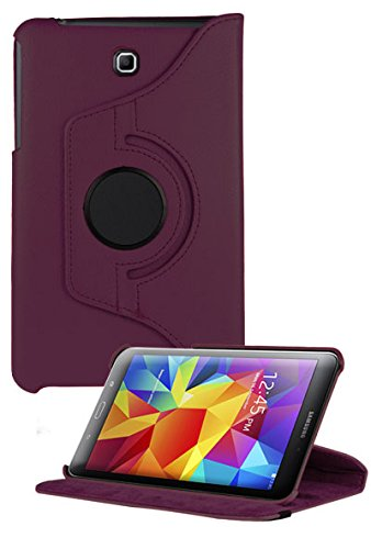 UPC 840866101103, HHI Multi Angle 360 Stand Case for Samsung Galaxy Tab 4 8.0 - Purple (Package include a HandHelditems Sketch Stylus Pen)