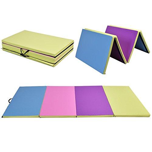 "Giantex 4'x10'x2"" Gymnastics Mat Folding Panel Thick Gym"