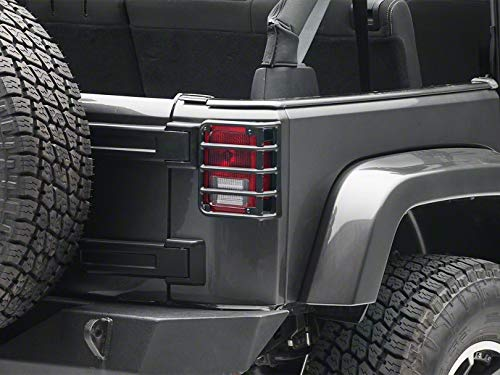RedRock 4×4 Tail Light Guards – Textured Black – Jeep Wrangler JK 2007-2018