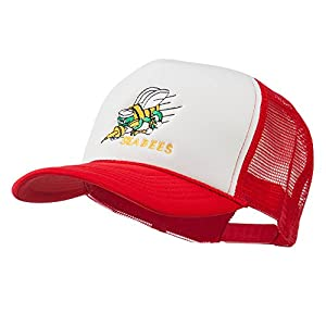 Navy Seabees Symbol Embroidered Mesh Trucker Cap - Red White